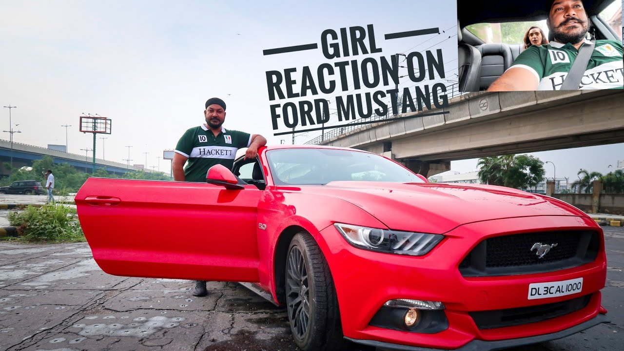 GIRL REACTION on FORD MUSTANG 5.0 😱