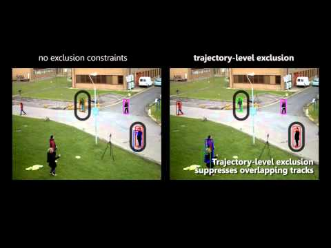 Detection- and Trajectory-Level Exclusion in Multiple Object Tracking (CVPR 2013)