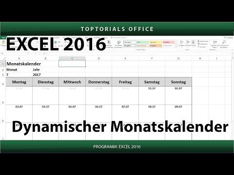Dynamischen Monatskalender erstellen + Download (Excel)