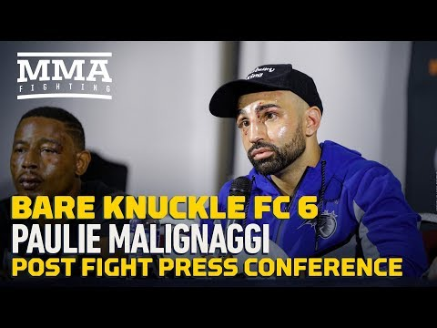 BKFC 6: Paulie Malignaggi Post-Fight Press Conference - MMA Fighting