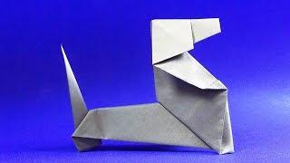 Оригами собака ТАКСА из бумаги 🐕 Как сделать собаку из бумаги 🐕 origami dog