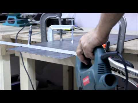 How To Cut Sheet Metal Straight With A Jigsaw Youtube