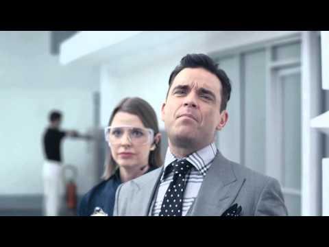 Yvonne Catterfeld  Robbie Williams VW Werbung Spot