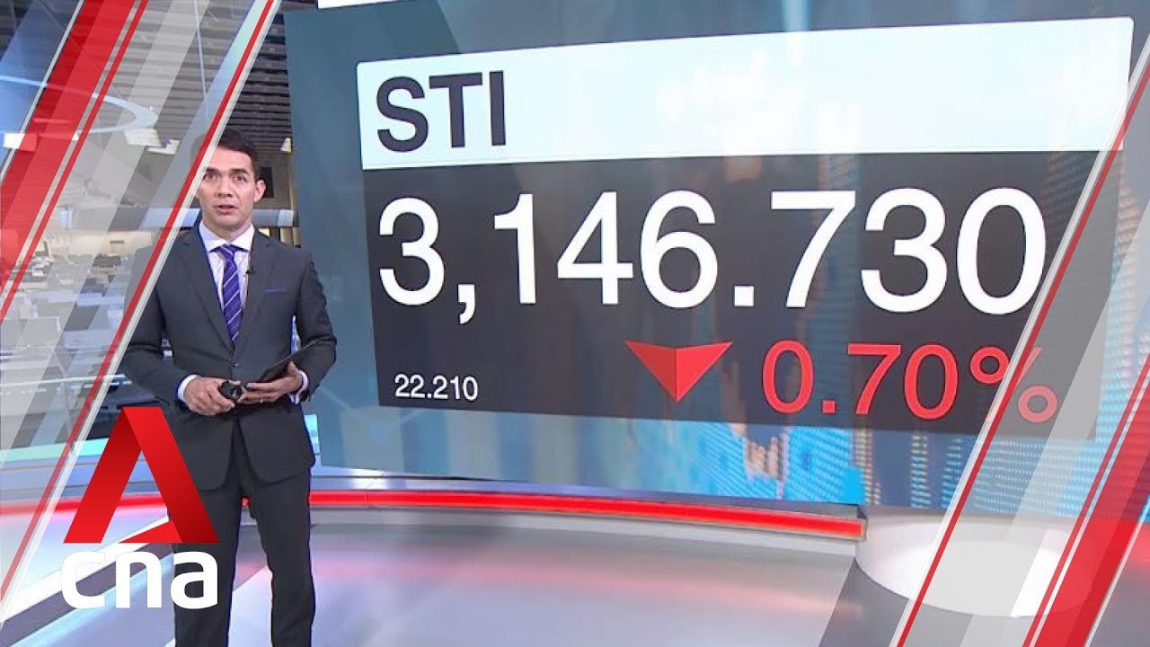 Straits Times Index (STI) closes 0 7% in the red on Aug 13