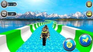 Water Slide 3D Adventure Game - bike and BMX stunts racing game