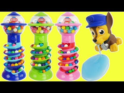 Candy Preschool Toys Teach Colors and Counting for kids with Paw Patrol Gumball Slime, PJ Masks