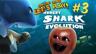 midget apple plays hungry shark evolution 3 the great white hype