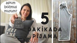 5 Dakikada Çok Kolay Pijama Dikimi / Pijama Nasıl Dikilir  /Esma'nın Dikiş Atölyesi