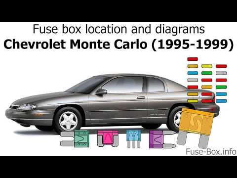 [DIAGRAM_5LK]  Fuse box location and diagrams: Chevrolet Monte Carlo (1995-1999) - YouTube | 1999 Monte Carlo Fuse Box |  | YouTube