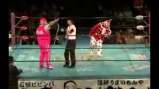 2010.4.29 大阪プロレスお笑い選手権 菊タロー vs くいしんぼう仮面