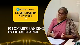Corporates owning banks: FM Nirmala weighs in on debate #HTLS2020
