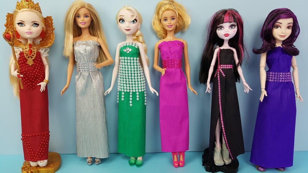 Download Como Fazer Vestido Longo Para Barbie Frozen Descendentes MH e EAH