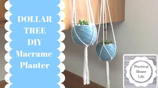 DOLLAR TREE DIY | Macrame Hanging Planter
