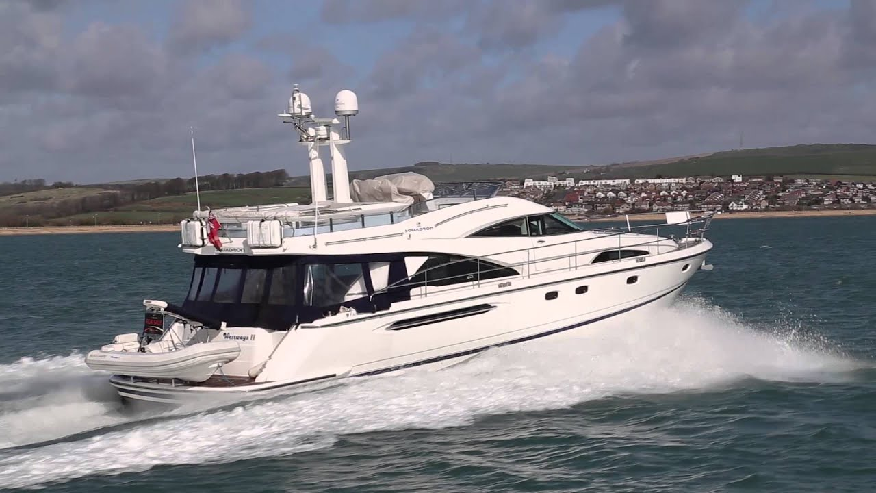 Fairline Squadron 58 Boat Test YouTube