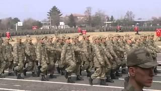 Erzincan 59 Topçu tugayı 96/1 yemin töreni geçişi 2016