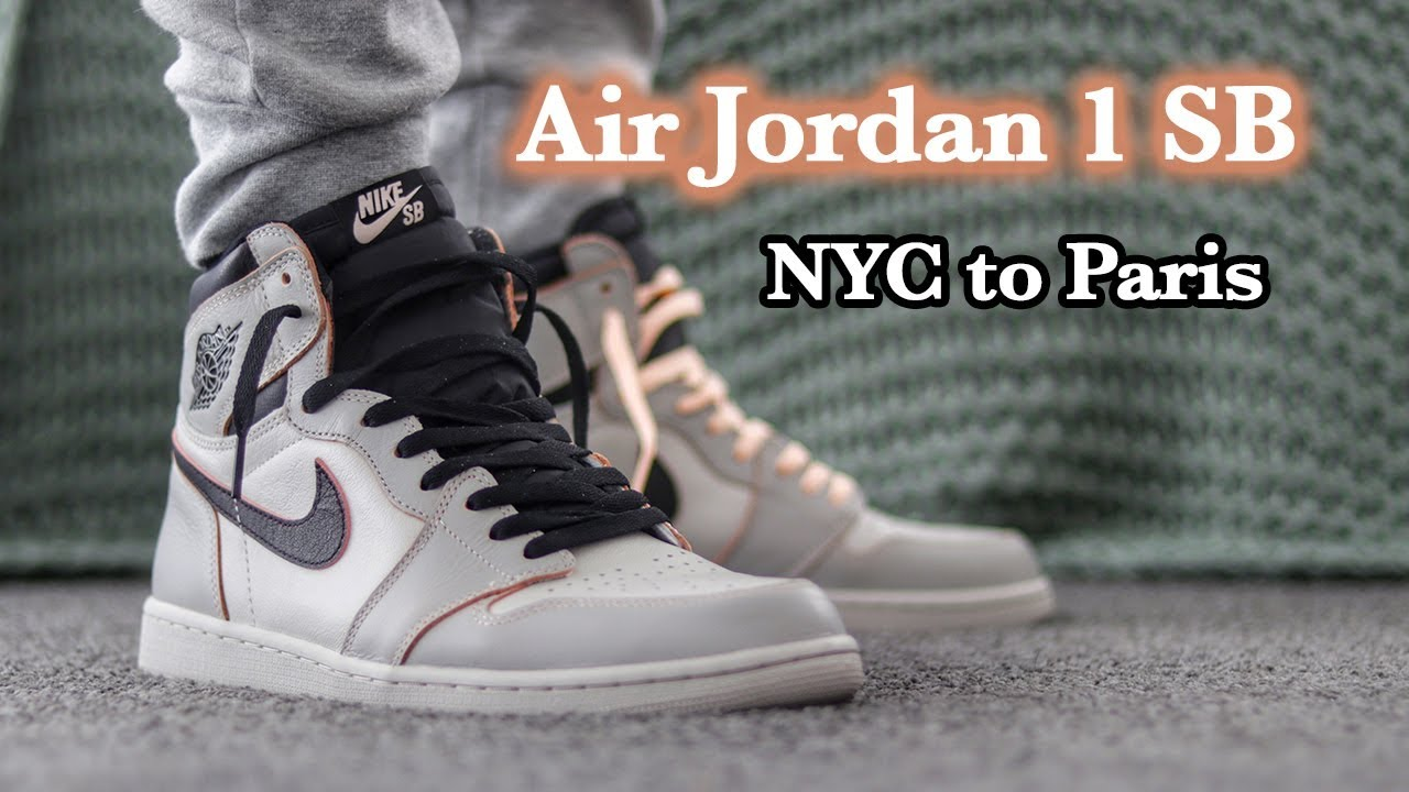 Air Jordan 1 SB Defiant   NYC to Paris   Close Up and On Feet with  Different Pants