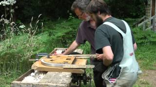steam bending wood into the a bow