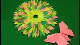 Bright Spring Wreath. Easy Paper Wreath. House Decor. Ideas For Easter