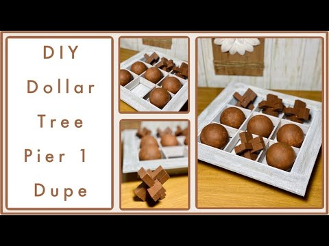 DIY Pier1 Dupe | Farmhouse Tic Tac Toe Game | Dollar Tree DIYs | Home Decor | Simple Cheap Easy DIYs