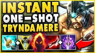 WTF! THIS TRYNDAMERE BUILD IS 100% TOO STRONG!!! ONE AUTO = ONE KILL! - League of Legends