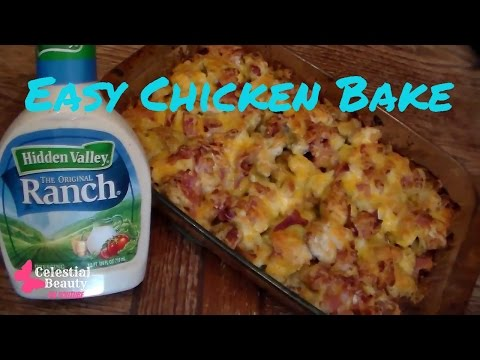Ranch Chicken & Potato Bake ~ Quick & Easy Recipe