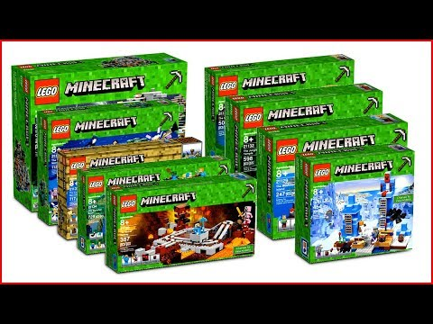 LEGO MINECRAFT COMPILATION All Sets Of All Time Fast Speed Build For Collectors - UNBOXING