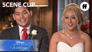 Disney's Fairy Tale Weddings | Emily and John's Ceremony at The China Pavilion | Freeform