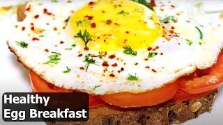 Half Fry Egg Sandwich | Healthy Egg Breakfast Recipe | Healthy Breakfast Ideas | Kanak's Kitchen