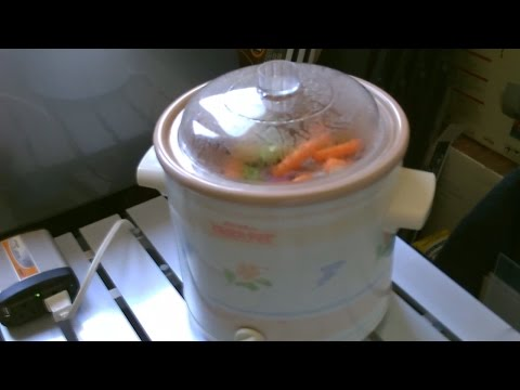 Solar Powered Crock-Pot! (using solar panel and battery) - easy DIY