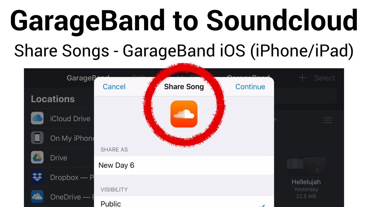 GarageBand to Soundcloud - Export/Share songs directly from GarageBand iOS  (iPhone/iPad)