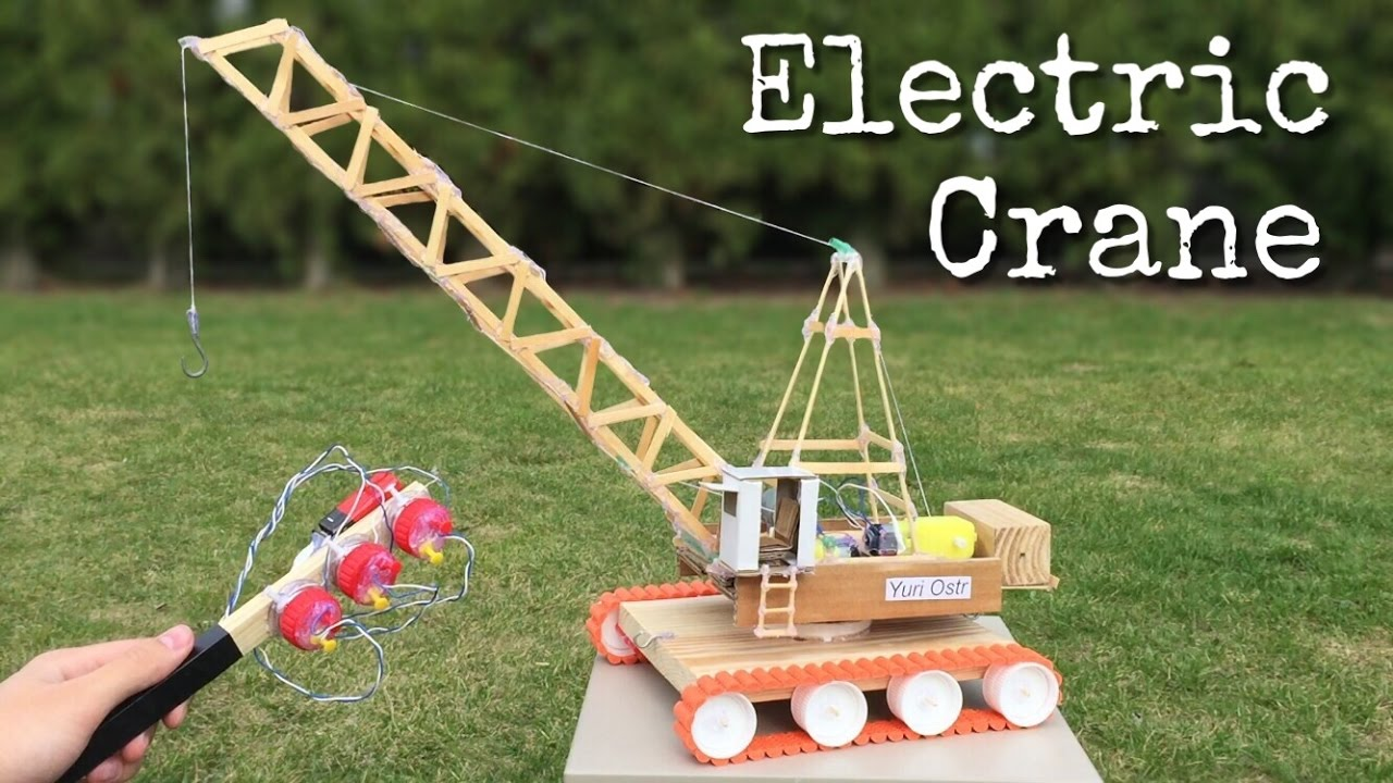 How to Make an Electric Crane with Remote Control out of ...