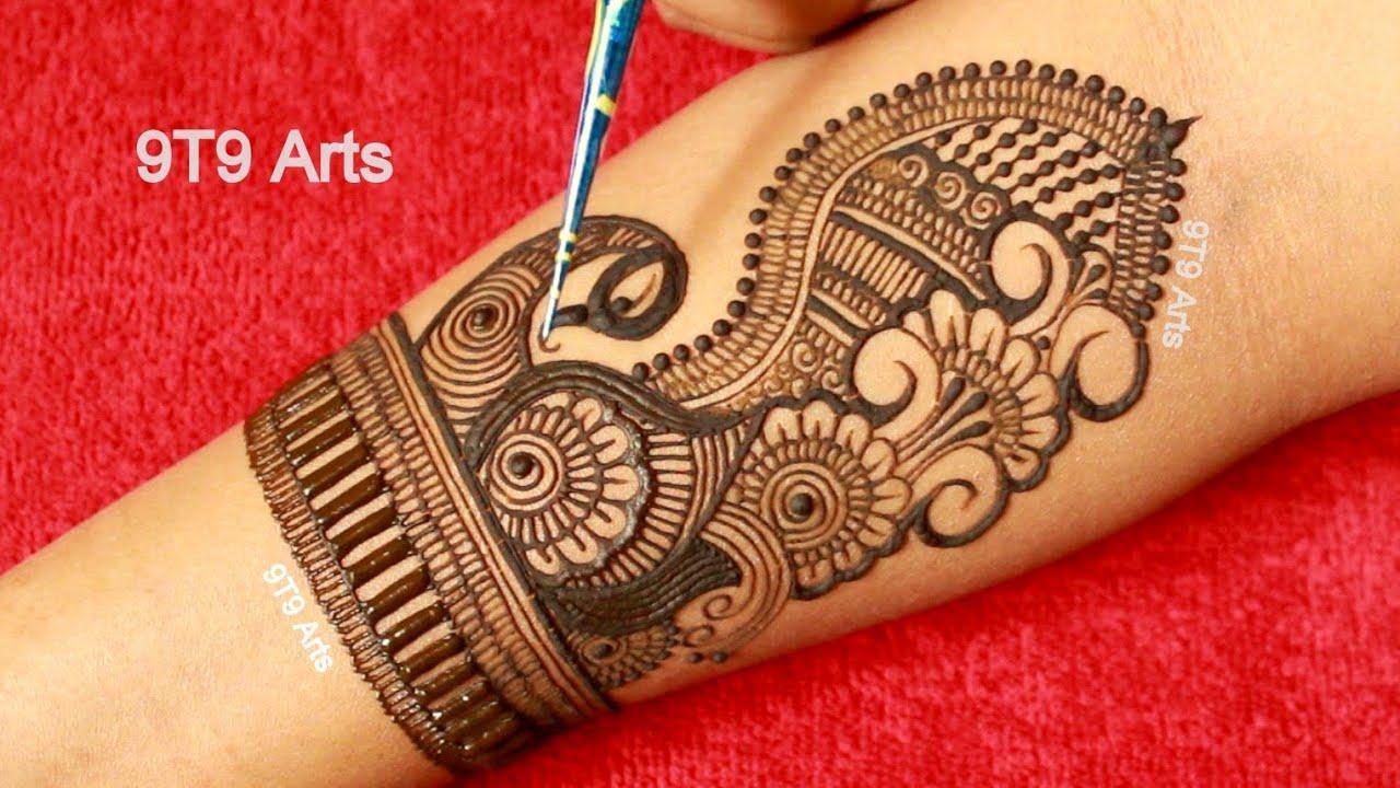 Dulhan Mehndi Design for Wedding 2020||New Peacock Mehndi Design for Hand||Full Hand Mehendi Designs