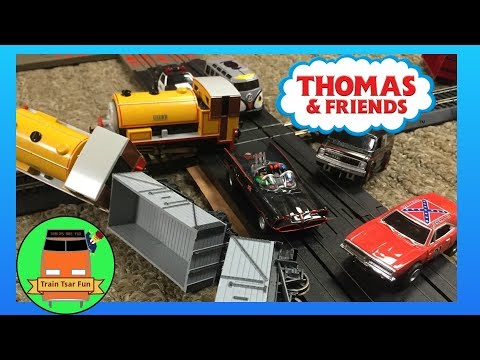 How To Combine Slot Car Tracks – with Thomas & Friends Trains, Scooby Doo, Batman, Police and more