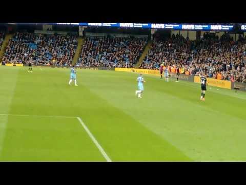 Manchester City v West Brom - Pablo Zabaleta last few minutes of match.