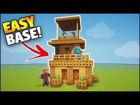 Minecraft: 1 Man/Player Survival Base/House - Easy Tutorial (Everything You Need!)