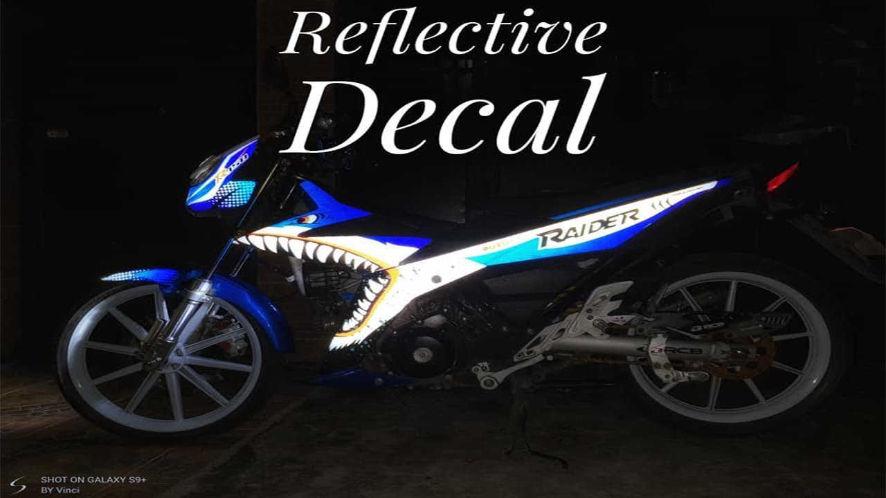 3m reflective decal for suzuki raider r150 fi