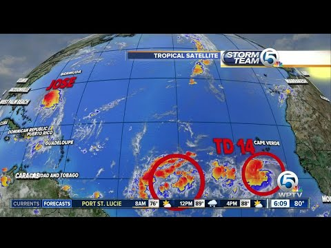 Friday morning tropical update: Jose shifts west toward Maryland