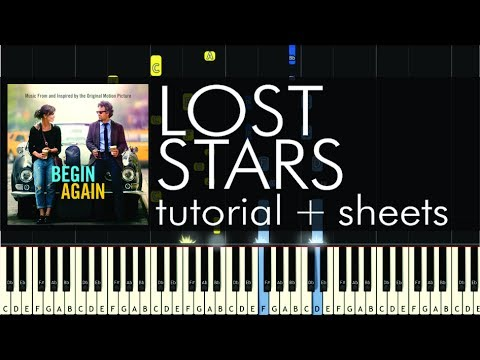 Adam Levine - Lost Stars - Piano Tutorial - How to Play + Sheets