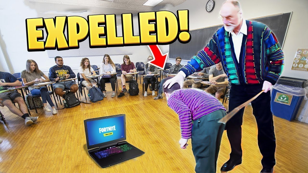 he got CAUGHT playing fortnite at school.. (ENDS BADLY!)