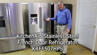 KitchenAid Stainless Steel French Door Refrigerator Model KRFF507HPS at Patterson's Appliances
