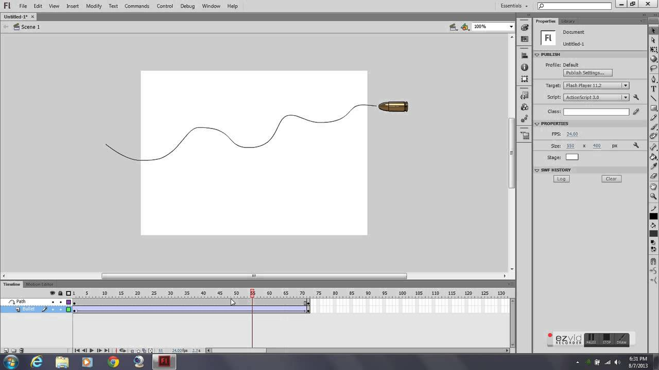 2d animation motion path tutorial adobe flash cs6 youtube rh youtube com Adobe Flash CS5 Tutorial Adobe Flash CS5 Logo