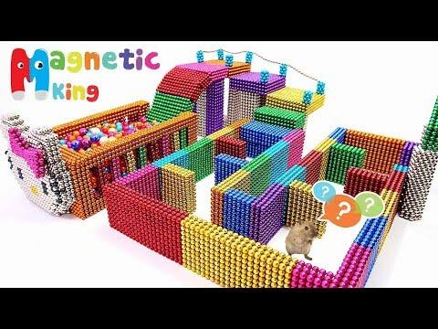 Как сделать игровую площадку хомяка | DIY Магнитные шарики | Сделай сам Хомяк Домой