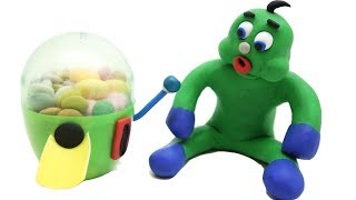 Chewing Gum Machine Stop Motion   OKG Kids Cartoons & Baby Videos