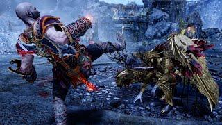 SPARTAN KICK KILL SIGRUN! God of War Kratos Destroying The Queen Again