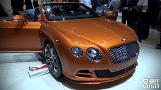 STAND TOUR: Bentley New GT Speed and Flying Spur V8 at Geneva 2014