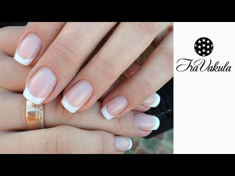 gel-nails-correction---french-manicure---nail-art---Коррекция-гелевых-ногтей,-Френч