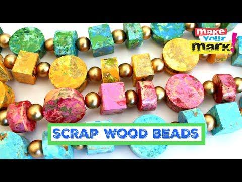 Scrap Wood Beads DIY