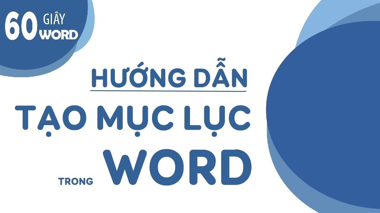 #hướng_dẫn_word #oes [60S-WORD] hướng dẫn tạo mục lục trong Word siêu nhanh