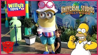 Universal Studios Hollywood 2018 Tour - HARRY POTTER Simpons MINIONS Transformers 3D - Willy