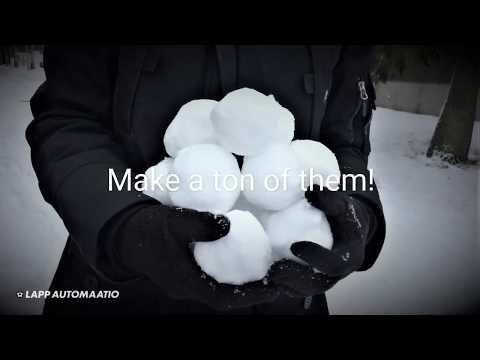 How To Make A Snowball Lantern?